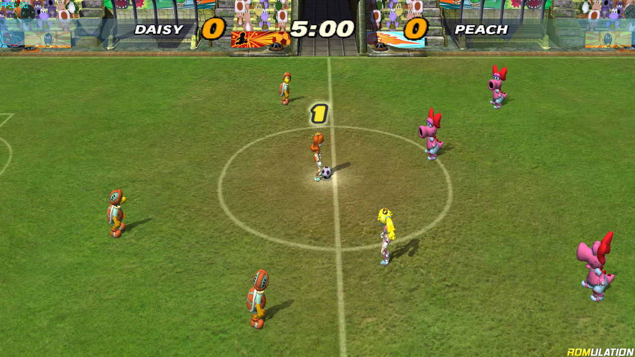 download super mario strikers game cube rom