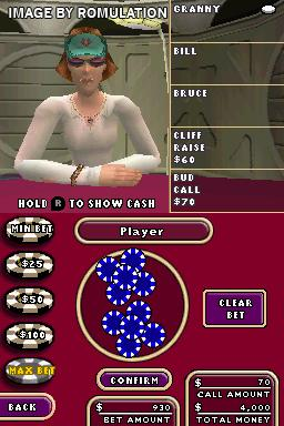 World Championship Poker - Deluxe Series  for NDS screenshot