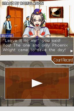 Phoenix Wright - Ace Attorney - Justice For All  for NDS screenshot