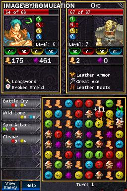 Puzzle Quest - Challenge of the Warlords (USA) NDS