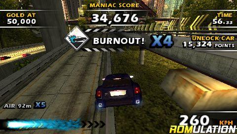 Burnout Dominator (USA) PSP / PlayStation Portable ISO Download