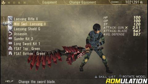 Gods Eater Burst (USA) PSP / PlayStation Portable ISO